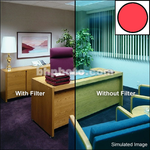 "Tiffen 2 x 2"" Decamired Red 6 Warming  Glass Filter"