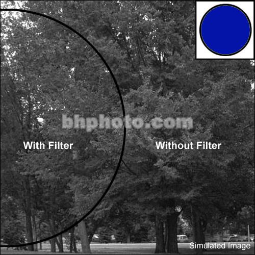 "Tiffen 2x3"" Blue 47 Glass Filter for Black & White Film"