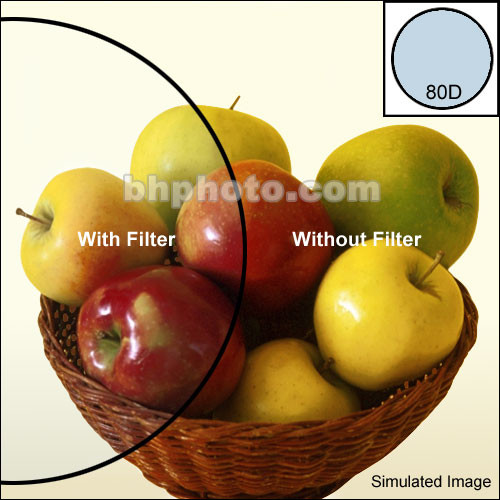 """Tiffen 2 x 3"""" 80D Color Conversion Filter"""