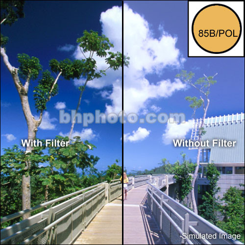 "Tiffen 2 x 3"" 85B Linear Polarizer Filter"
