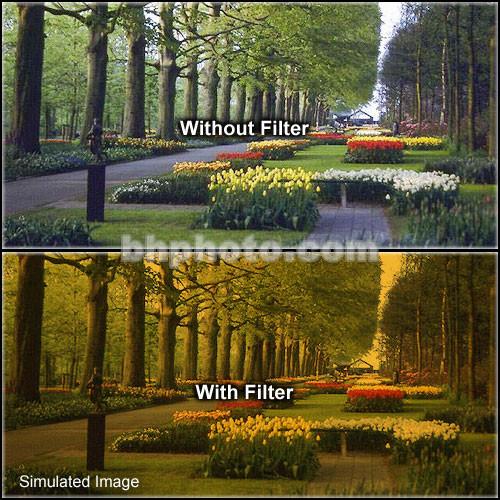 "Tiffen 2 x 3"" 3 Tangerine Soft-Edge Graduated Filter (Vertical Orientation)"