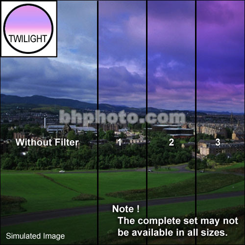 "Tiffen 2 x 3"" 3 Twilight Graduated Filter (Horizontal Orientation)"