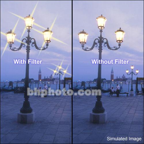 "Tiffen 2 x 3"" 4 Point/2mm Grid Star Effect Glass Filter"