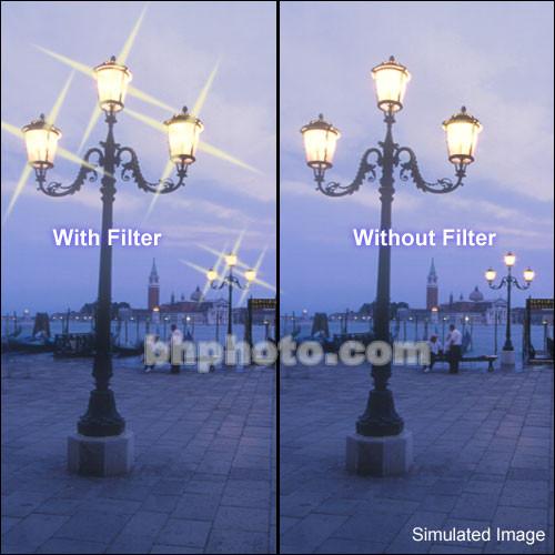 "Tiffen 2 x 3"" 4 Point/4mm Grid Star Effect Glass Filter"
