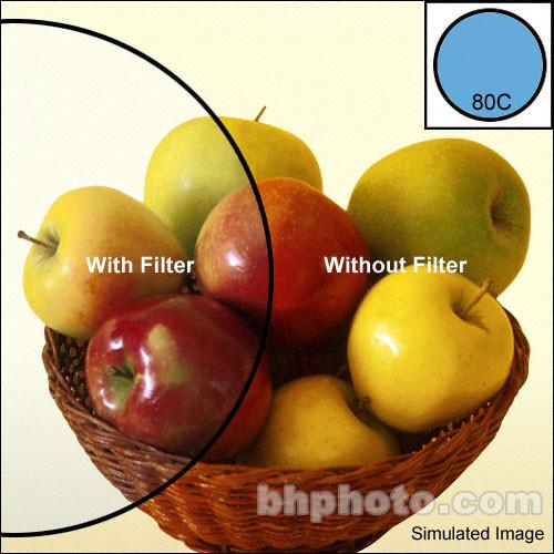 """Tiffen 3 x 3"""" 80C Color Conversion Filter"""