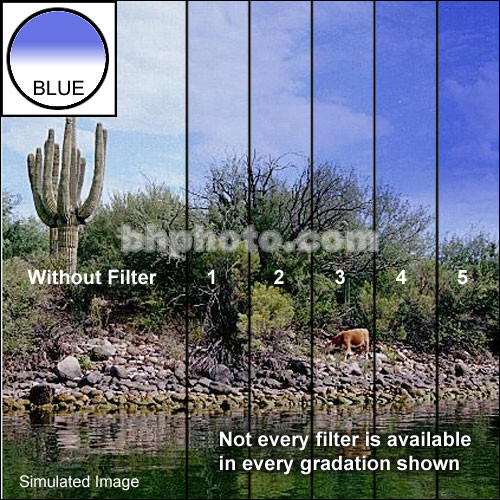 """Tiffen 3 x 3"""" Blue 4 Hard Edge Graduated Filter"""