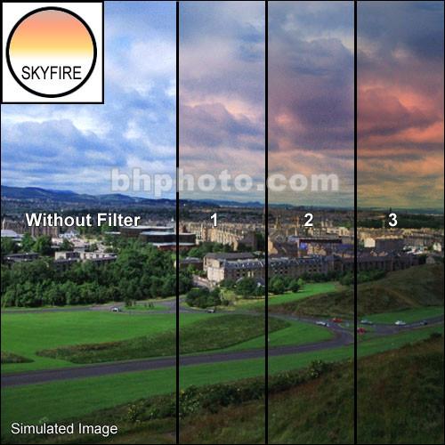 "Tiffen 3 x 3"" 2 Skyfire Graduated Filter"