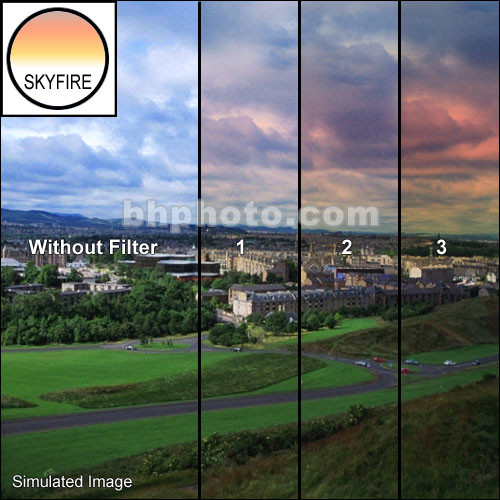 "Tiffen 3 x 3"" 3 Skyfire Graduated Filter"