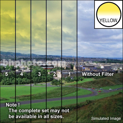 "Tiffen 3 x 3"" 1 Yellow Hard-Edge Graduated Filter"