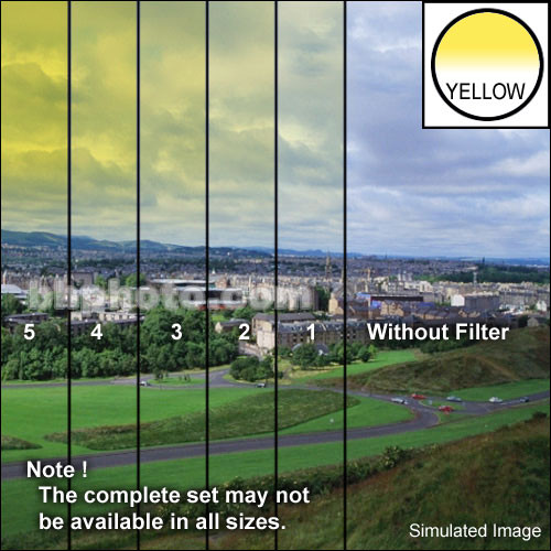 "Tiffen 3 x 3"" 3 Yellow Hard-Edge Graduated Filter"