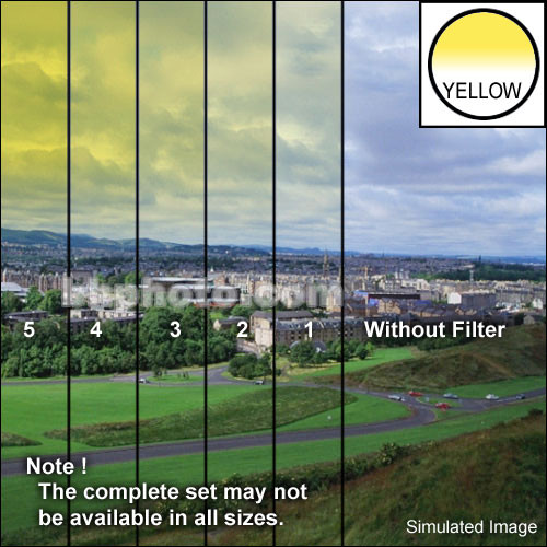 "Tiffen 3 x 3"" 4 Yellow Hard-Edge Graduated Filter"