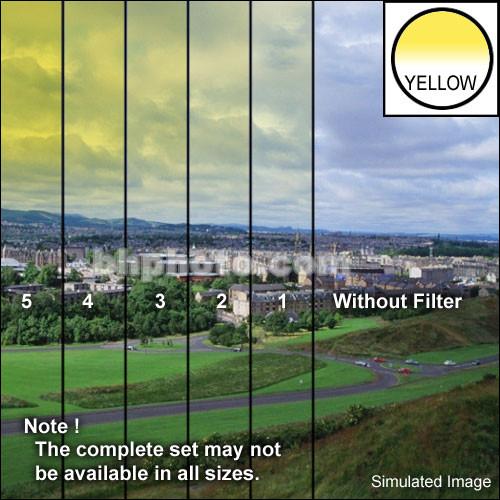 "Tiffen 3 x 3"" 5 Yellow Hard-Edge Graduated Filter"