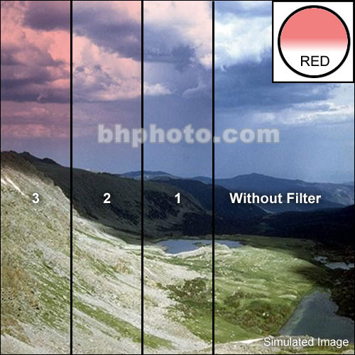 "Tiffen 3 x 3"" Complement Red 1 Filter"