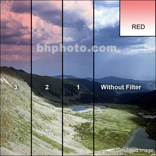 "Tiffen 3 x 3"" Complement Red 2 Filter"