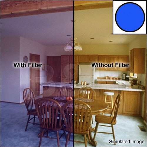 """Tiffen 3 x 3"""" Decamired Blue 12 Cooling  Glass Filter"""