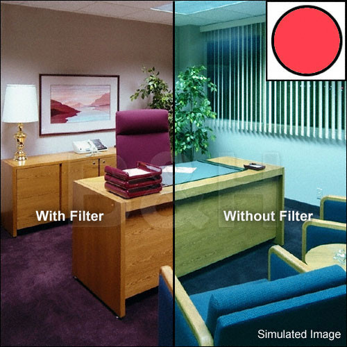 "Tiffen 3 x 3"" Decamired Red 12 Warming  Glass Filter"