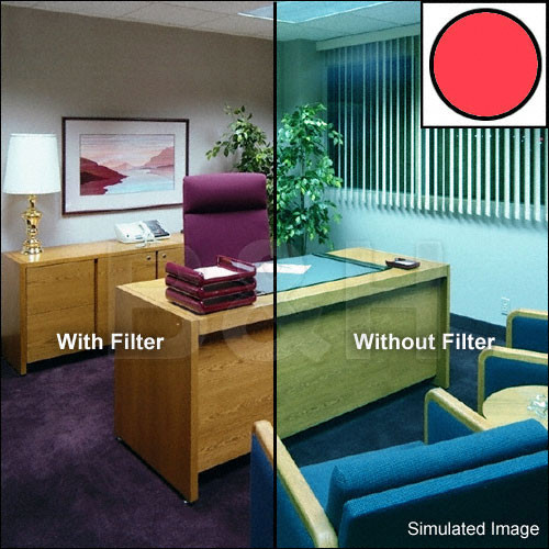 "Tiffen 3 x 3"" Decamired Red 6 Warming  Glass Filter"