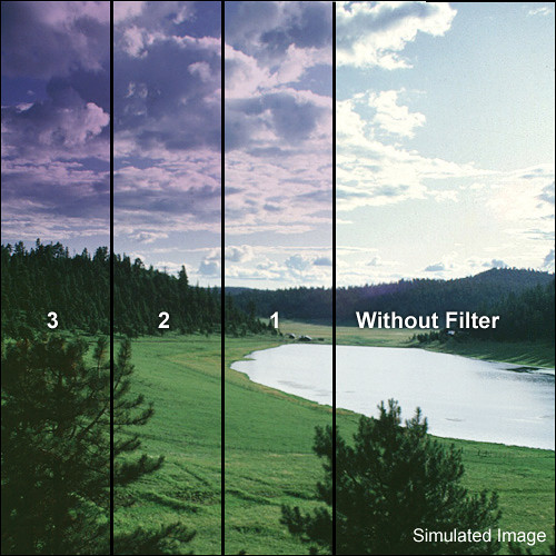 "Tiffen 3 x 4"" 1 Grape Hard-Edge Graduated Filter (Horizontal Orientation)"