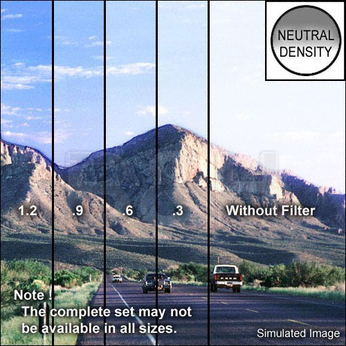 "Tiffen 3 x 4"" Hard Edge Graduated 1.2 ND Filter (Vertical Orientation)"