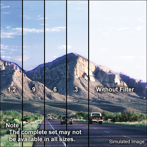 "Tiffen 3 x 4"" Soft Edge Graduated 1.2 ND Filter (Vertical Orientation)"