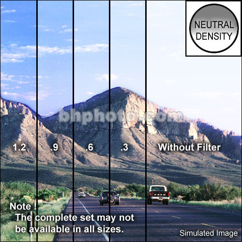 "Tiffen 3 x 4"" Hard Edge Graduated 0.3 ND Filter (Horizontal Orientation)"