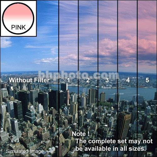 "Tiffen 3 x 4"" 2 Pink Hard-Edge Graduated Filter (Vertical Orientation)"