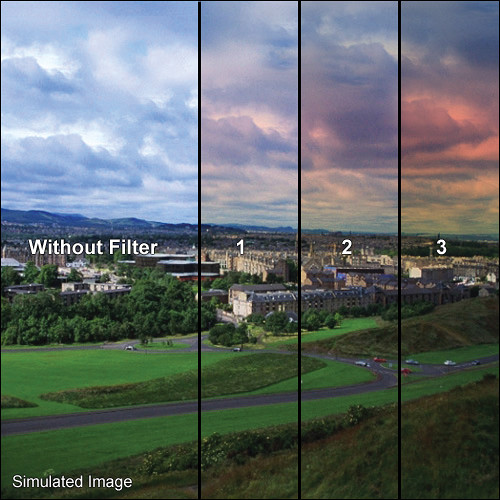"""Tiffen 3 x 4"""" 3 Skyfire Graduated Filter (Vertical Orientation)"""