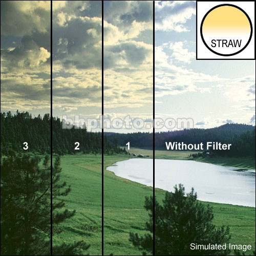 "Tiffen 3 x 4"" 1 Straw Hard-Edge Graduated Filter (Vertical Orientation)"