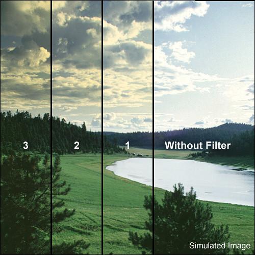 """Tiffen 3 x 4"""" 1 Straw Soft-Edge Graduated Filter (Vertical Orientation)"""