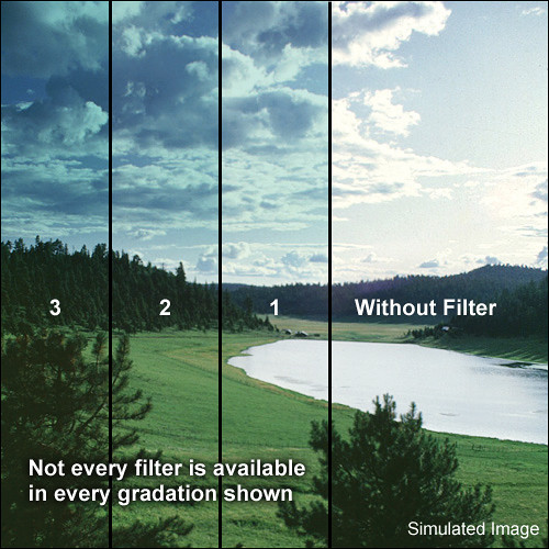 "Tiffen 3 x 4"" 1 Tropic Blue Soft-Edge Graduated Filter (Vertical Orientation)"