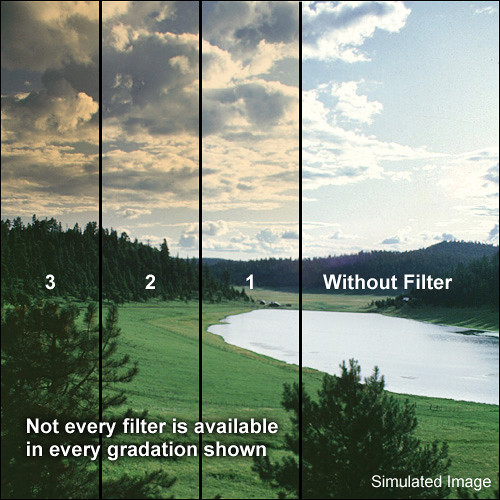 "Tiffen 3 x 4"" 1 Tobacco Soft-Edge Graduated Filter (Vertical Orientation)"