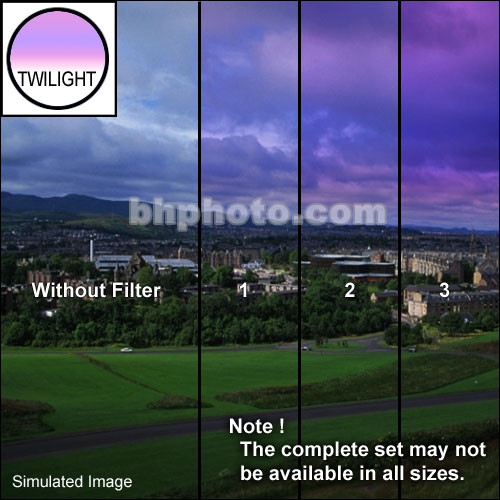 "Tiffen 3 x 4"" 1 Twilight Graduated Filter (Horizontal Orientation)"