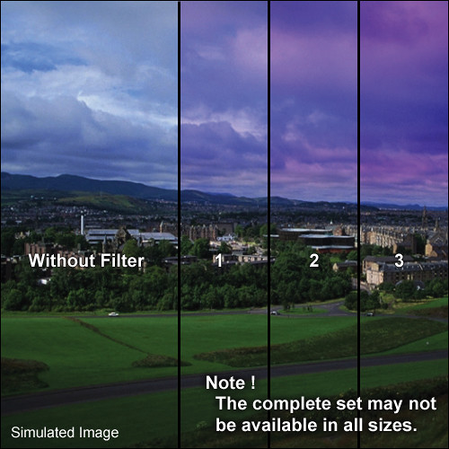 "Tiffen 3 x 4"" 1 Twilight Graduated Filter (Vertical Orientation)"