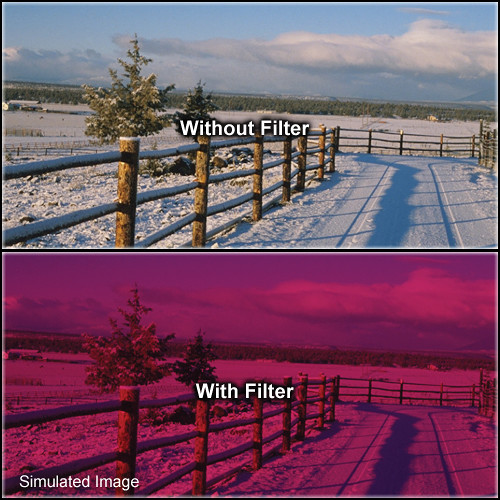 "Tiffen 3 x 4"" 3 Cranberry Solid Color Filter"