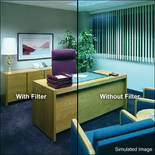 "Tiffen 3 x 4"" Decamired Red 1.5 Warming  Glass Filter"