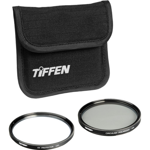 Tiffen 37mm Photo Twin Pack (UV Protection and Circular Polarizing Filter)