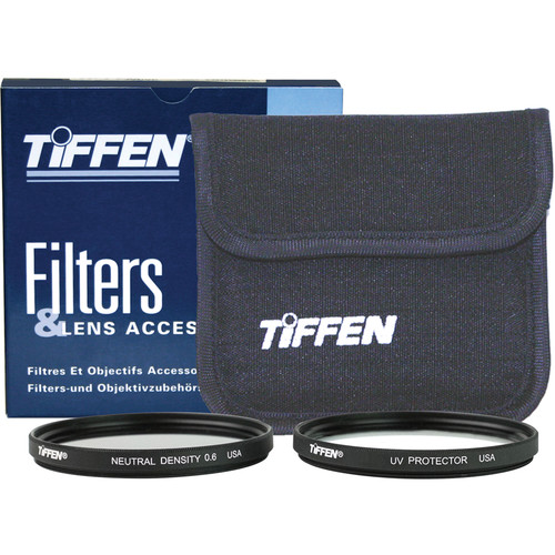Tiffen 37mm Video Twin Pack (Clear, Neutral Density (ND) 0.6 and Soft Pouch)