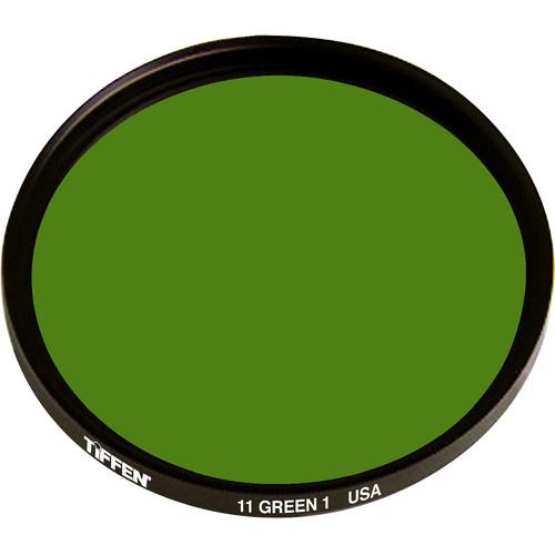 """Tiffen 4.5"""" Green 1 #11 Glass Filter for Black & White Film"""