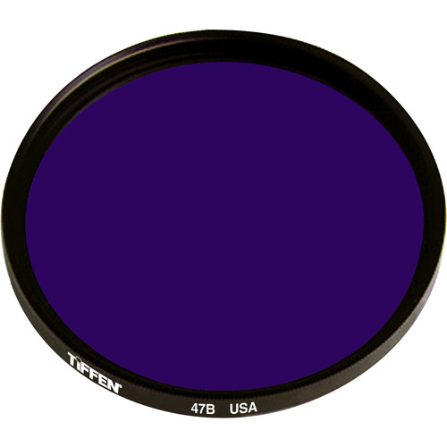 "Tiffen 4.5"" Round Deep Blue #47B Color Balancing Filter"
