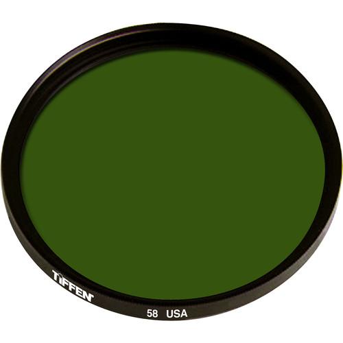 """Tiffen 4.5"""" Green #58 Glass Filter for Black & White Film"""