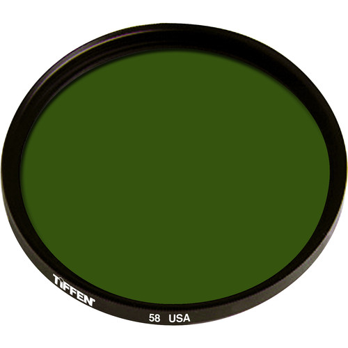 "Tiffen 4.5"" Green #58 Glass Filter for Black & White Film"