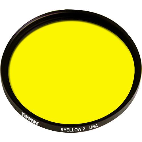 """Tiffen 4-1/2"""" Yellow 2 #8 Glass Filter for Black & White Film"""