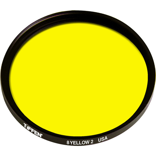 "Tiffen 4-1/2"" Yellow 2 #8 Glass Filter for Black & White Film"