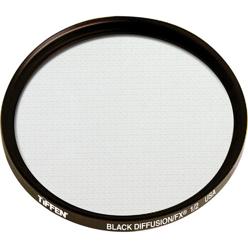 "Tiffen 4.5"" Round Black Diffusion/FX 1/2 Filter"