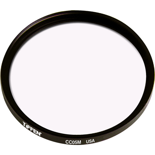 """Tiffen 4.5"""" Round CC05M Magenta Filter"""