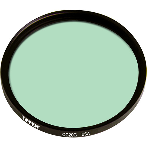 "Tiffen 4.5"" Round CC20G Green Filter"
