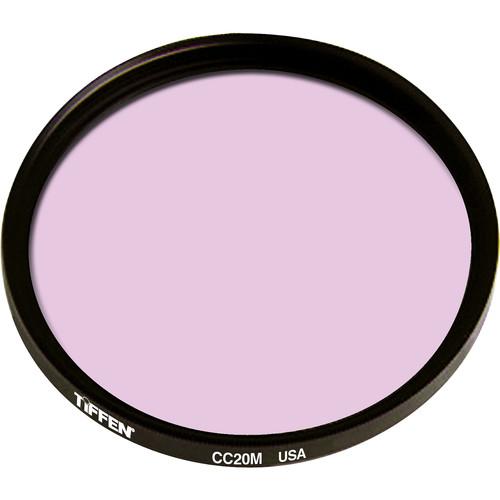 """Tiffen 4.5"""" Round CC20M Magenta Filter"""