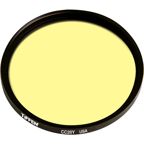 "Tiffen 4.5"" Round CC20Y Yellow Filter"