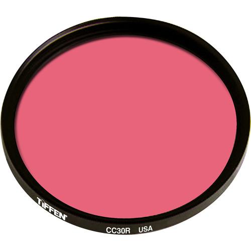 """Tiffen 4.5"""" Round CC30R Red Filter"""