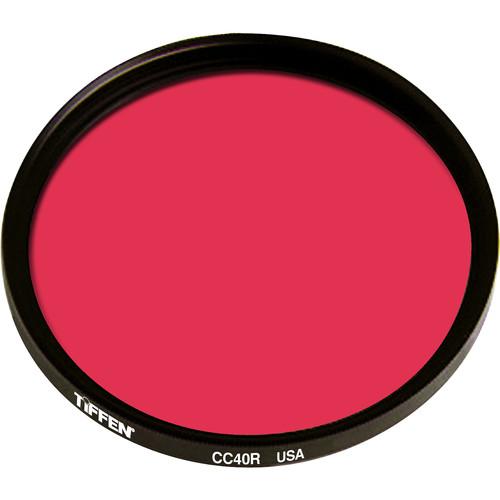"""Tiffen 4.5"""" Round CC40R Red Filter"""